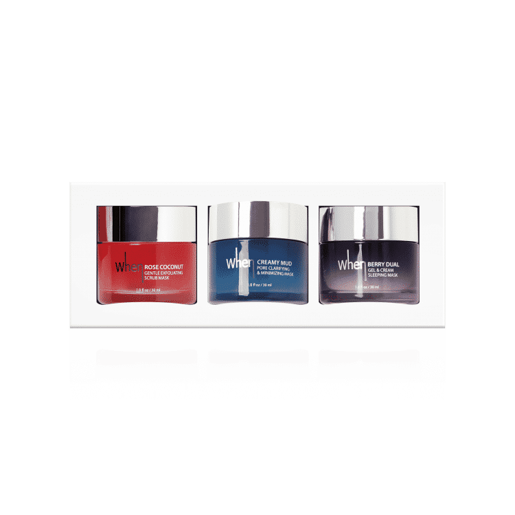 When travel trio cream face maskers