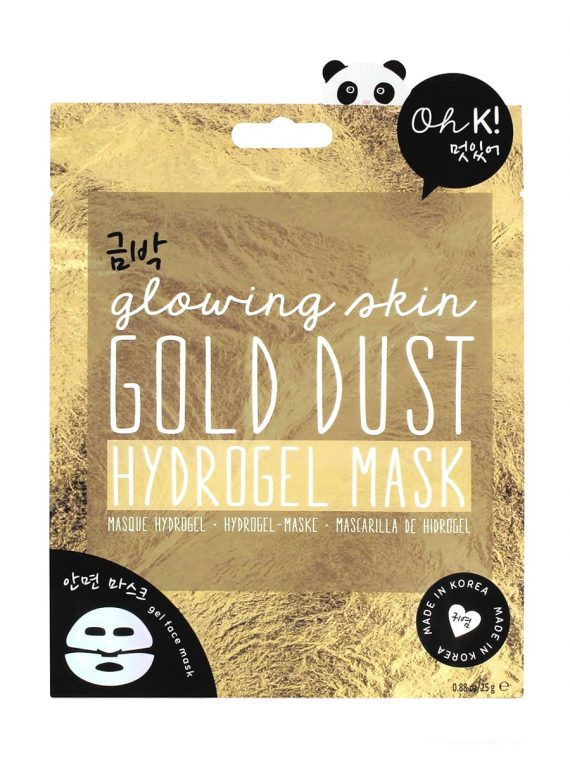 Koreosity_oh-k_gold-dust_hydrogel_mask_front