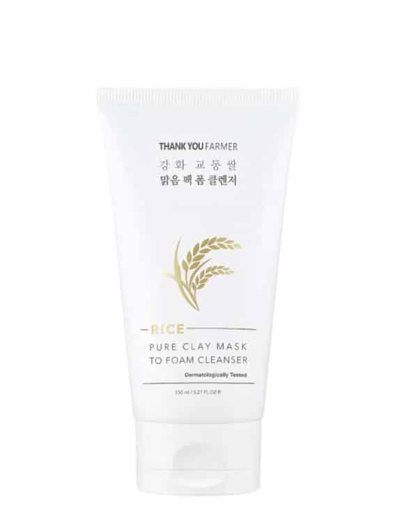 Thank You Farmer Rice Pure Clay Mask To Foam Cleanser